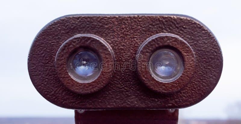 Close-up binoculars stock image