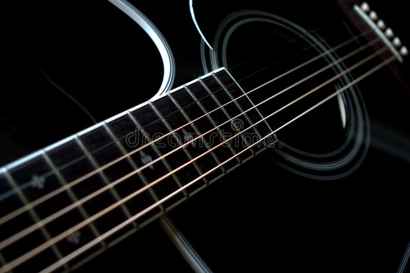 Acoustic guitar detail royalty free stock image