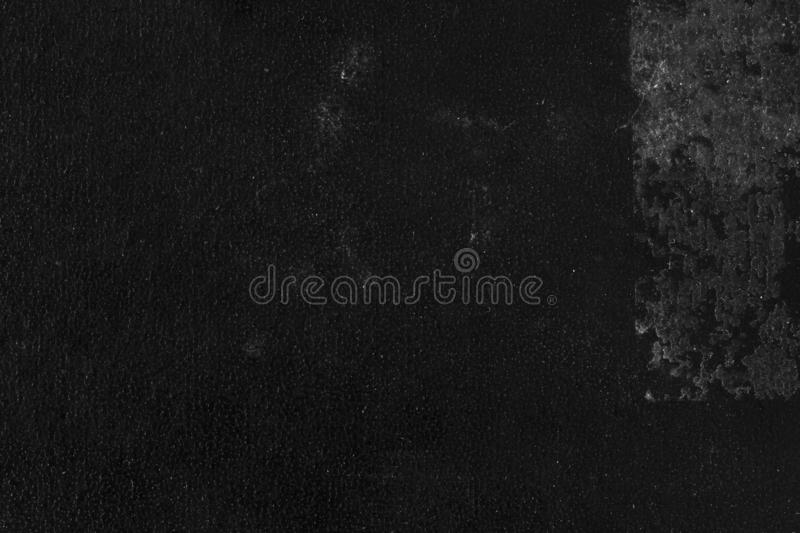 Close up of black book cover. Macro image of the detail of a worn black book cover royalty free stock photography