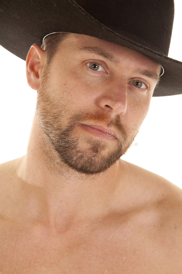 Close Up Black Hat Face Royalty Free Stock Images