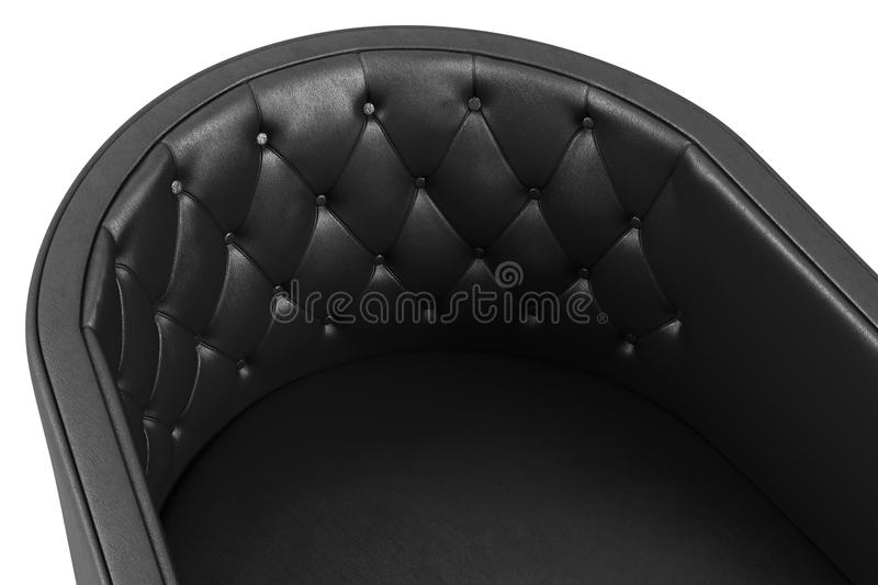 Close-up of black leather armchair royalty free stock image