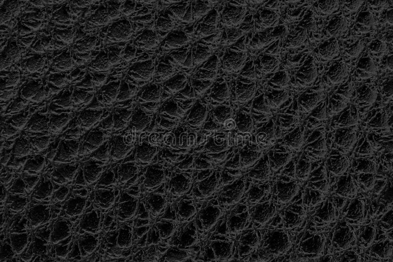 Close up of black leather as texture or background royalty free stock photography