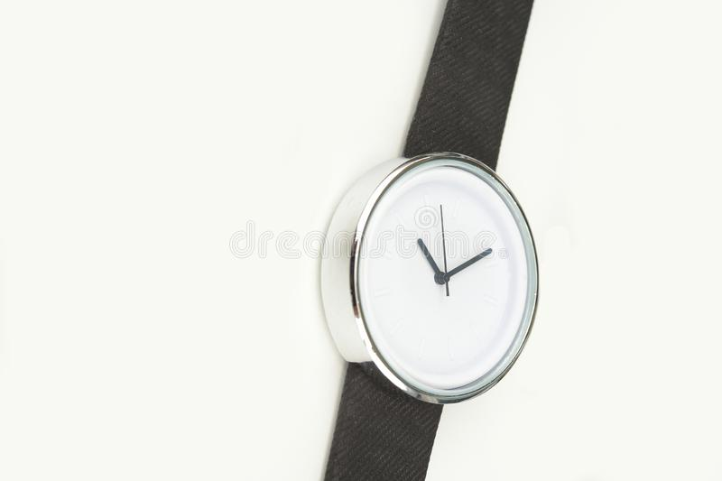 Close up of black wrist watches stock images