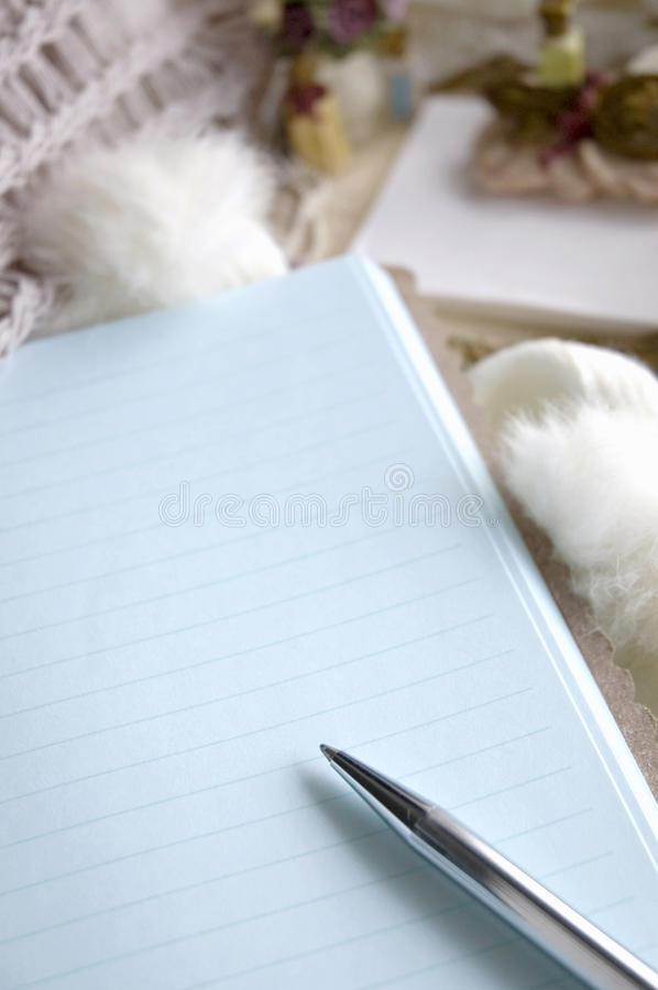 Download Close up blank page stock photo. Image of organizer, holiday - 27622414
