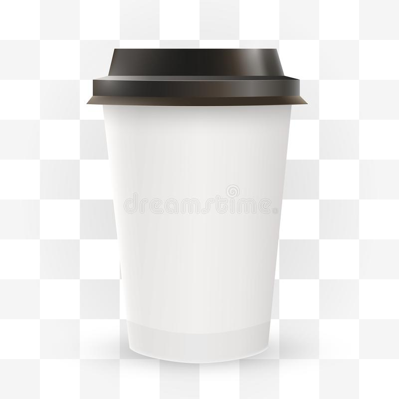 Close up of blank paper coffee cup. Vector illustration royalty free illustration