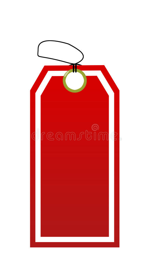 Close up of blank price label. On white background vector illustration