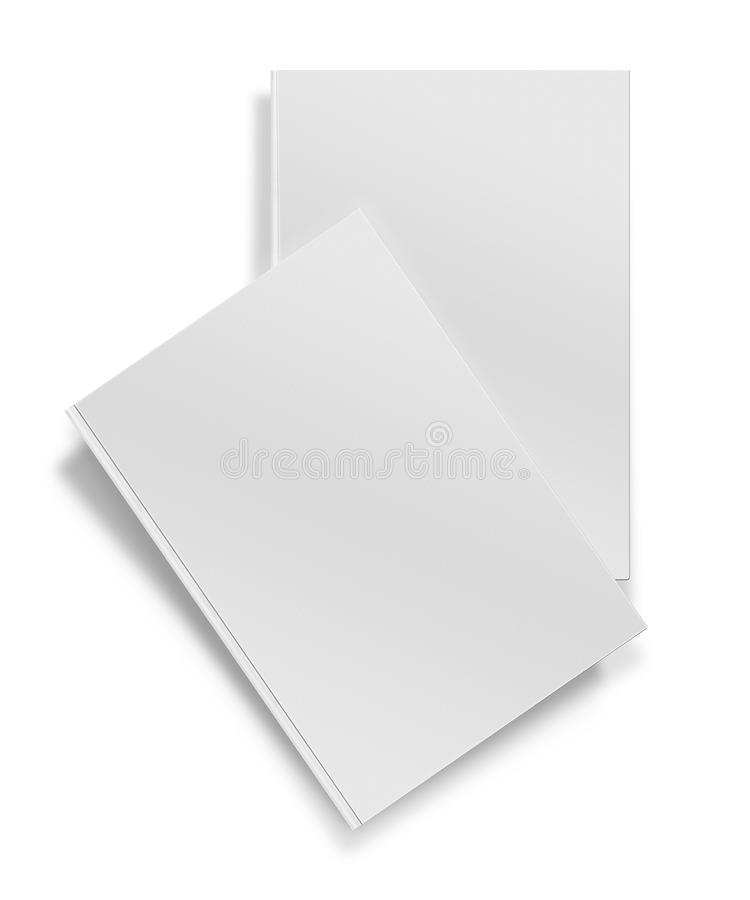 Close up of a blank white book on white background royalty free stock photography