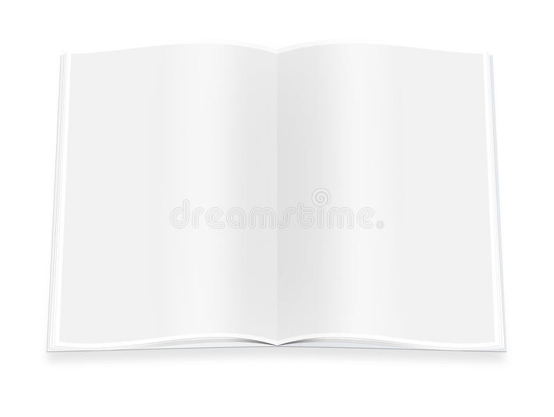 Close up of a blank white book on white background. With clipping path vector illustration
