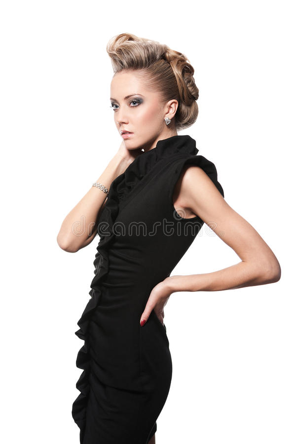 Download Close Up Of Blond Woman With Fashion Hairstyle Stock Photo - Image: 28674426