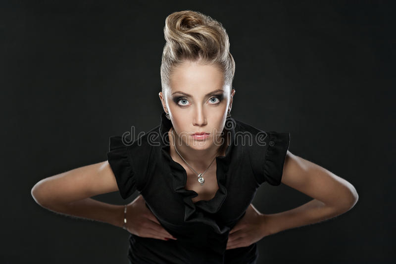 Download Close Up Of Blonde Woman With Fashion Hairstyle Stock Image - Image: 28674567
