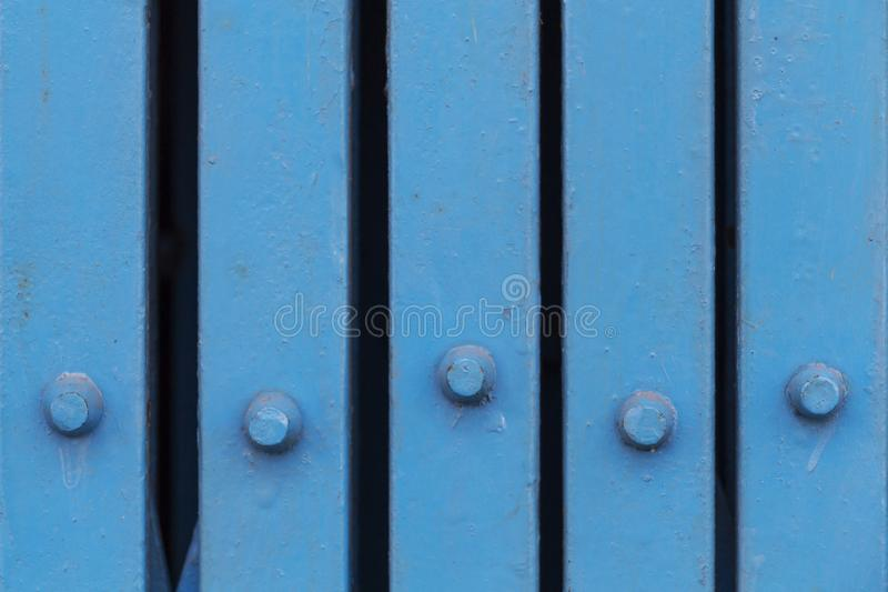 Close Up Blue Iron Folding Door At Store Front. Stock Image - Image ...