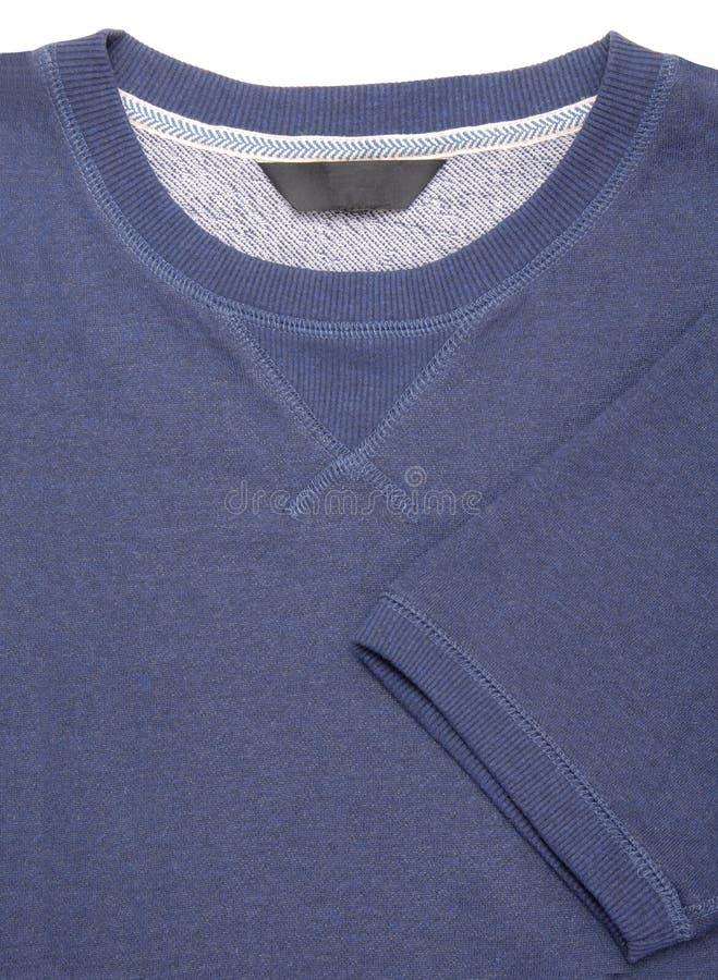 Close-up of blue tee-shirt, short sleeve T-shirt, stock image