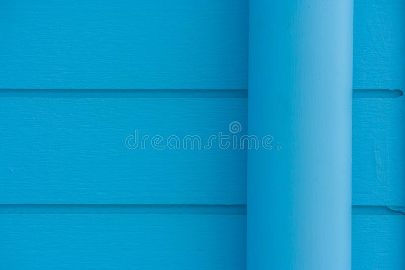 Close Up Blue Water Pipe With Pvc Pipe Lock Setting On Vintage Blue ...