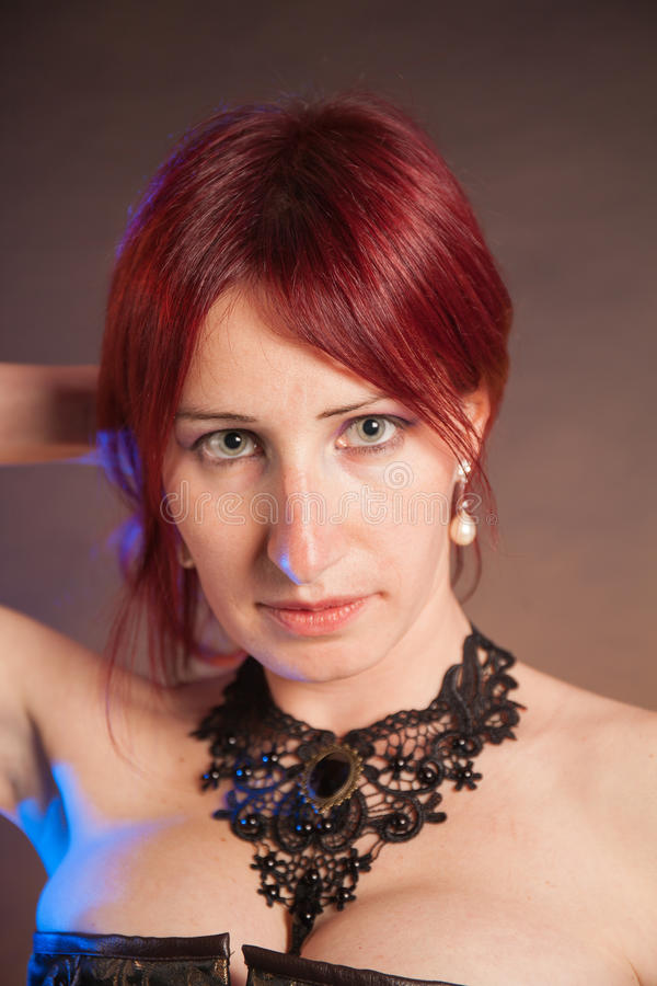 Close up bonito da face da mulher isolado imagem de stock royalty free