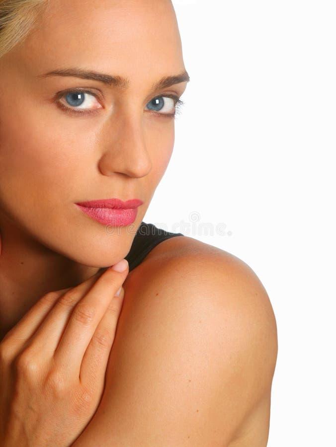 Close up bonito da mulher fotos de stock royalty free