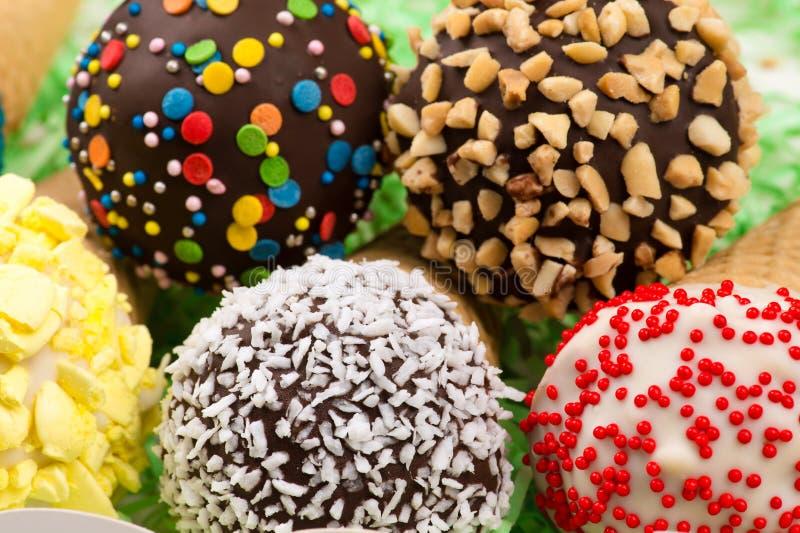 Close up bonito do gelado, vista superior imagens de stock royalty free
