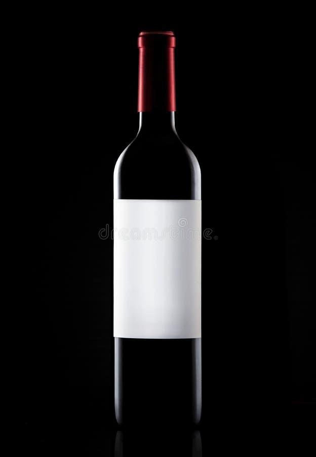 Wine bottle close up royalty free stock image