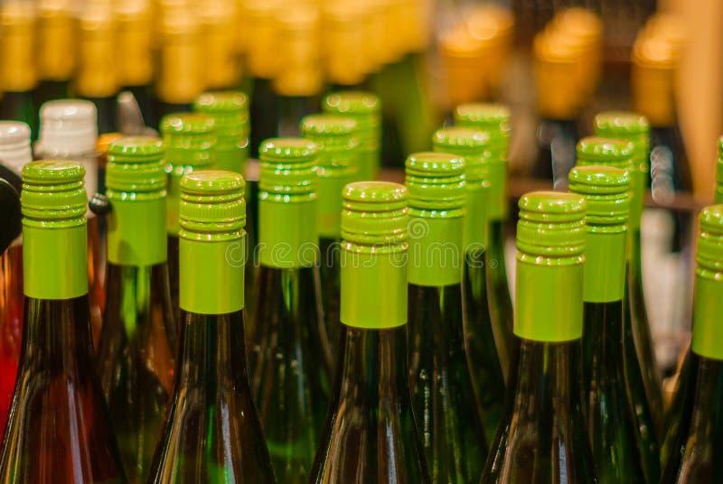 Bottle necks in the store stock photo