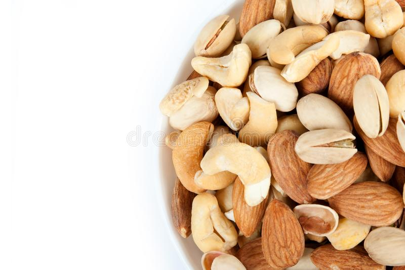 Bowl with nuts royalty free stock image