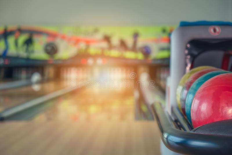 Bowling balls. Close up of bowling balls royalty free stock images