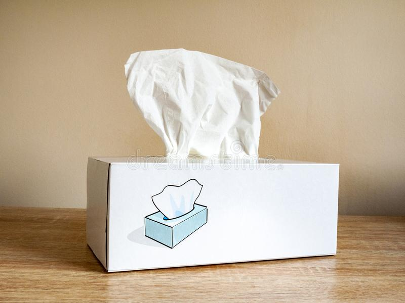 Close up of box of tissues royalty free stock photos