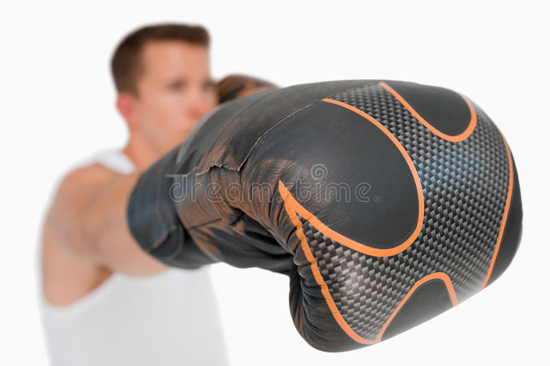 Close up of boxers fist stock image