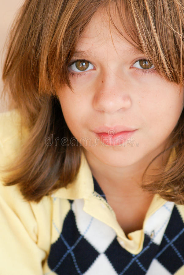 Boy With Neutral Expression Royalty Free Stock Photos