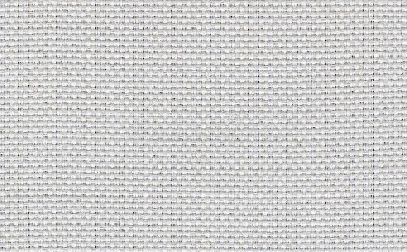 Close up branco, bege, claro - contexto cinzento da textura da amostra da tela da cor Linha de tira branca projeto da tela do tes fotografia de stock