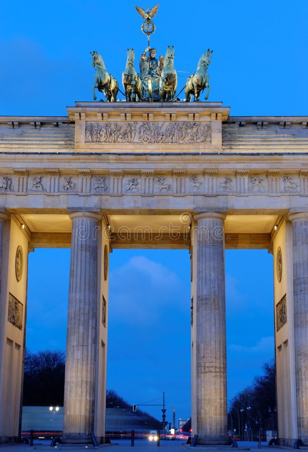 Close Up Brandenburg Gate royalty free stock photography