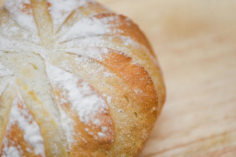 Close up bread - Fresh Bakery bread on wooden background homemade breakfast food concept royalty free stock photos