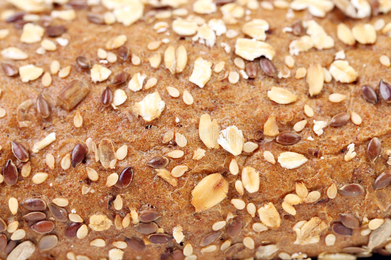 Close up of Bread made from whole grain. Whole background royalty free stock photos