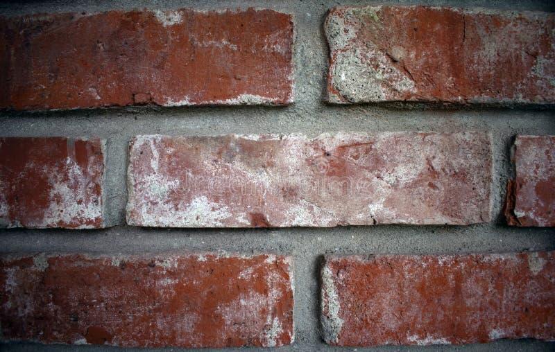 Close up of a brick wall, wide gap between bricks royalty free stock images