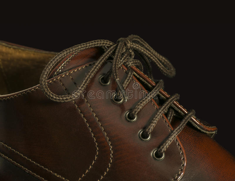 Download Close-up Of A Brown Shoe On Black Stock Image - Image: 28659795