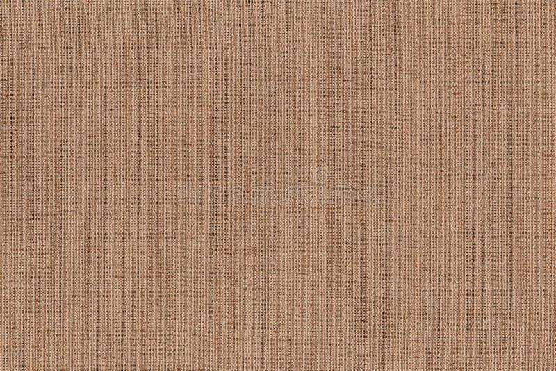 Close-up bruine, donkere bruin met de beige textuur van de kleurenstof Ontwerp van het de lijnpatroon van de strook het lichtbrui stock foto