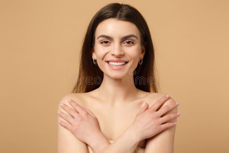 close-up-brunette-half-naked-woman-s-per