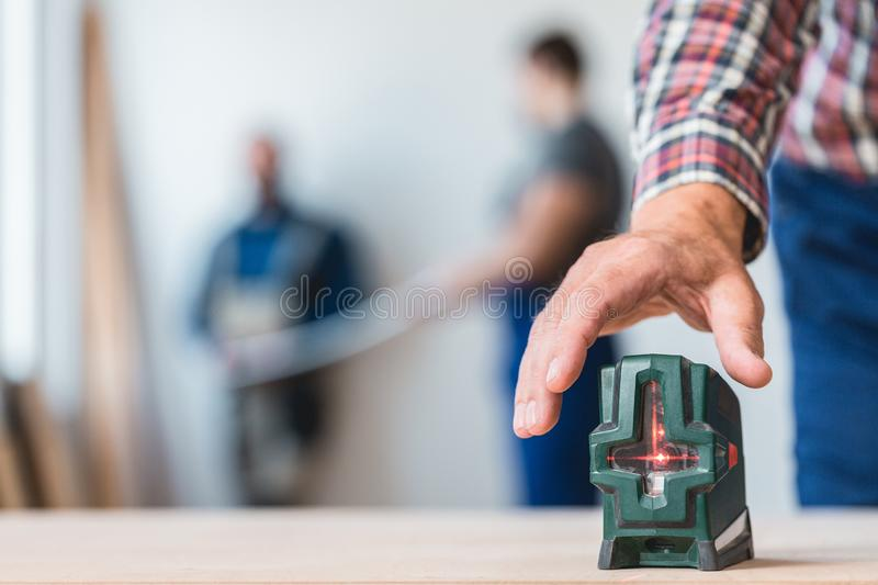Close-up of level royalty free stock image