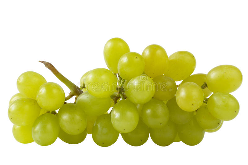 Close-up of a bunch of grapes (path isolated) royalty free stock photo