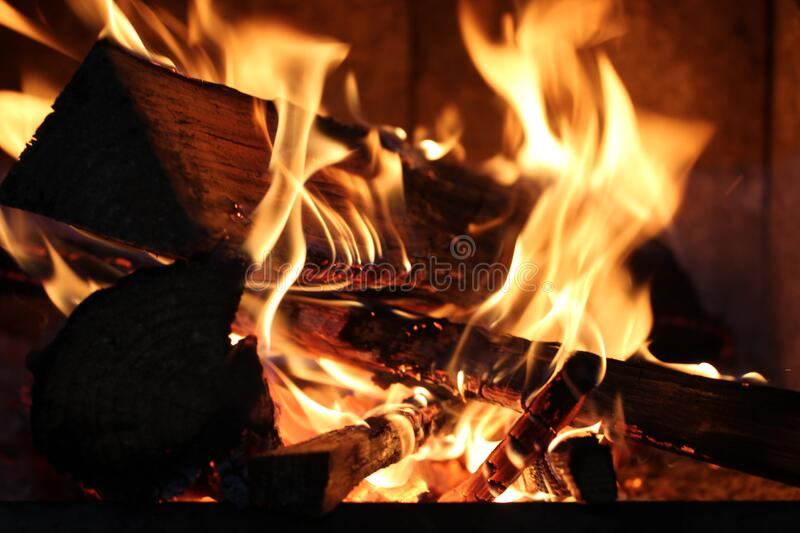 Close up of burning fire royalty free stock photography