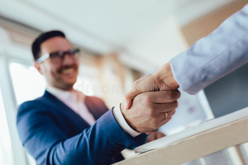 Business people handshaking.Focus on hands royalty free stock images