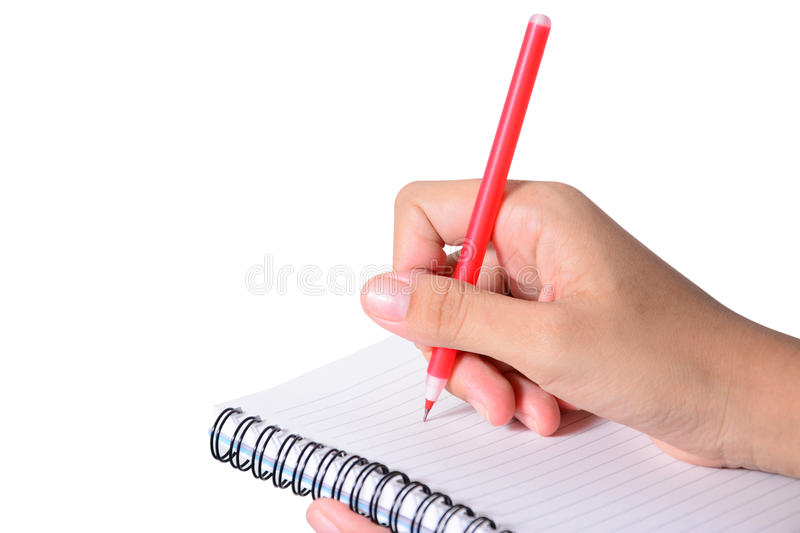 Close-up of business people writing royalty free stock image