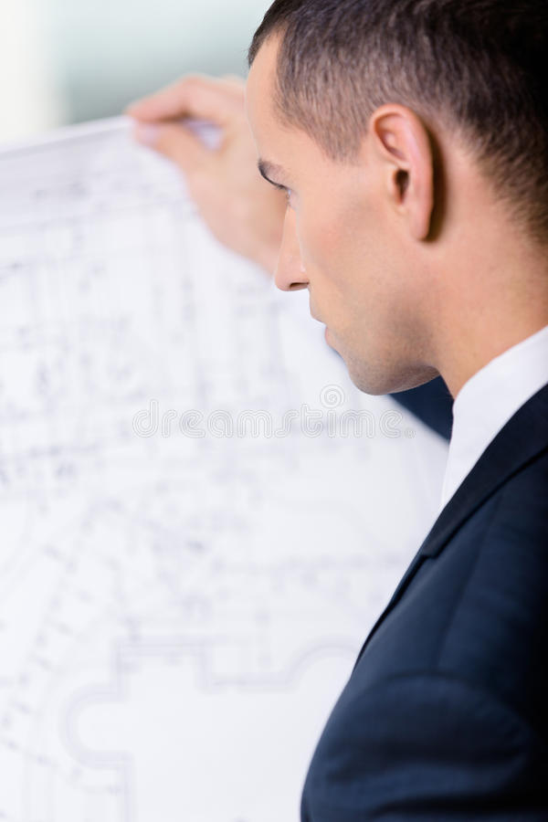 Download Close Up Of Businessman With Layout Stock Image - Image: 29529049