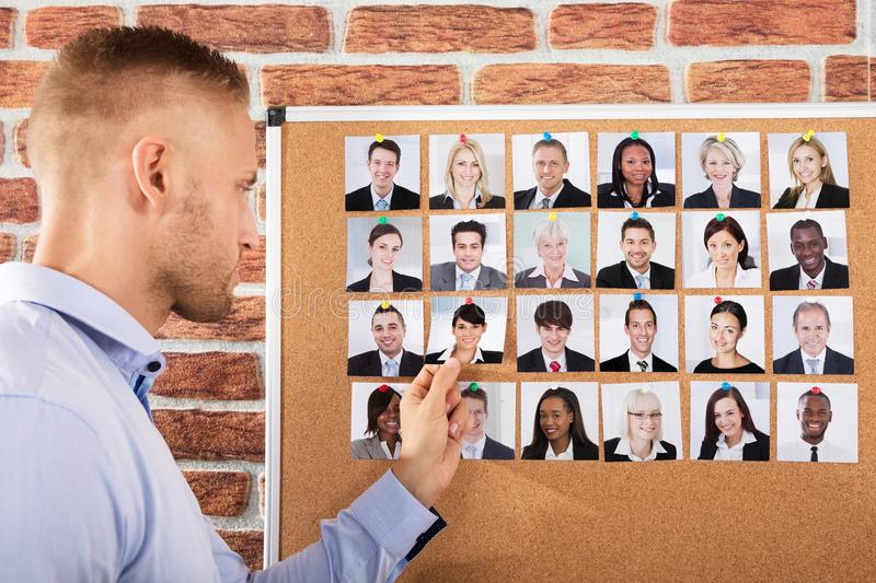 Businessman Hiring The Candidate For Job stock photography