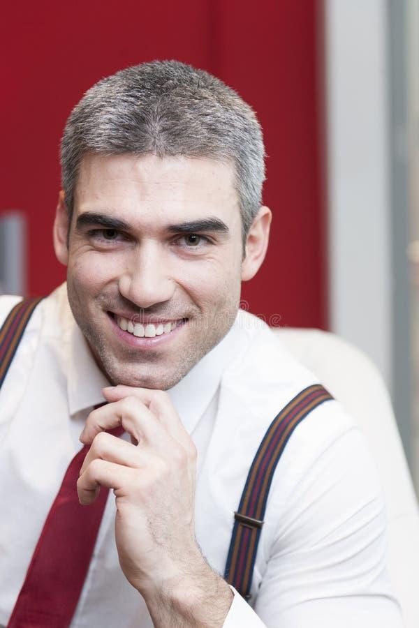 Download Close-up Of Businessman Smiling At Camera Stock Photo - Image: 31843004