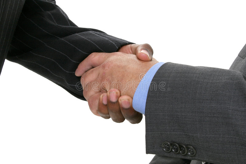 Close Up Businessmen Shaking Hands stock image