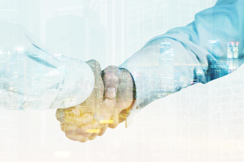 Download Close Up Of Businessmen Shaking Hands, Toned Stock Photo - Image: 83722097