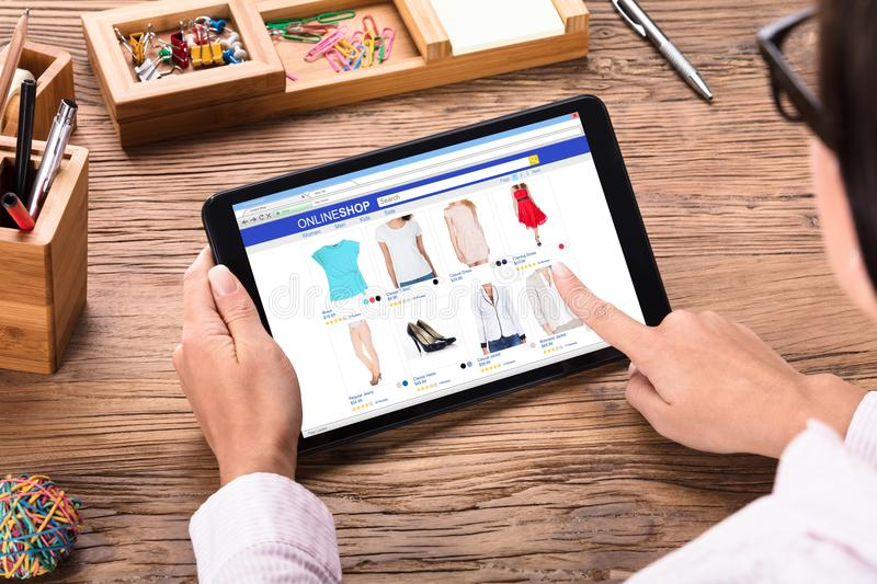 Businesswoman Shopping Online royalty free stock photography