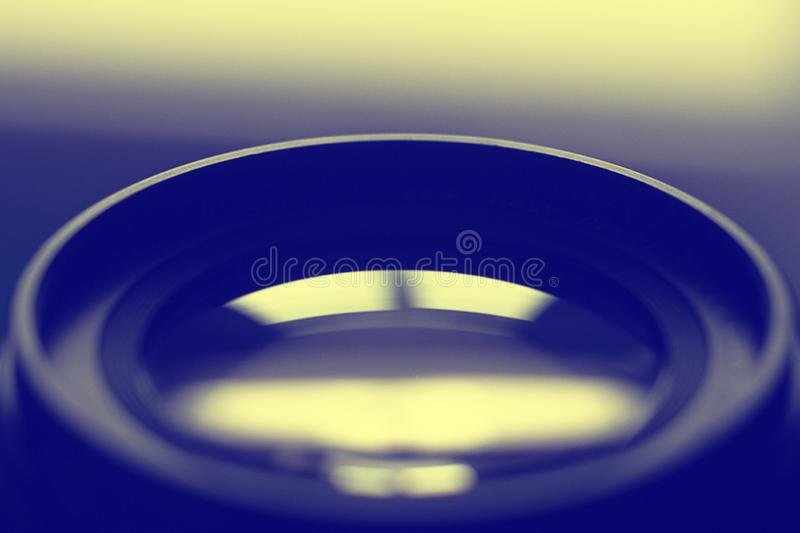 Close up camera lens, camera lens background royalty free stock image