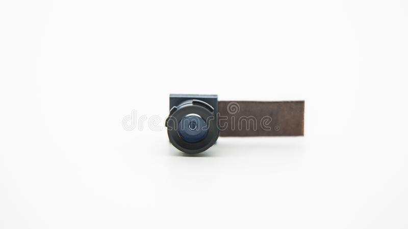 Close up on a camera module for mobile phone. Closeup of Smartphone Lens royalty free stock photos