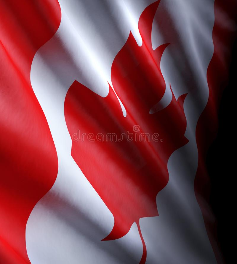 Close-up of the Canadian state flag royalty free stock photography