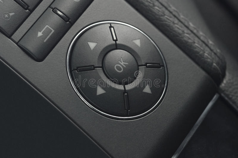 Close up of a car buttons royalty free stock photos